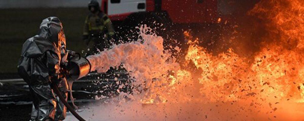ВМоскве вЦентральном НИИтуберкулеза начался пожар