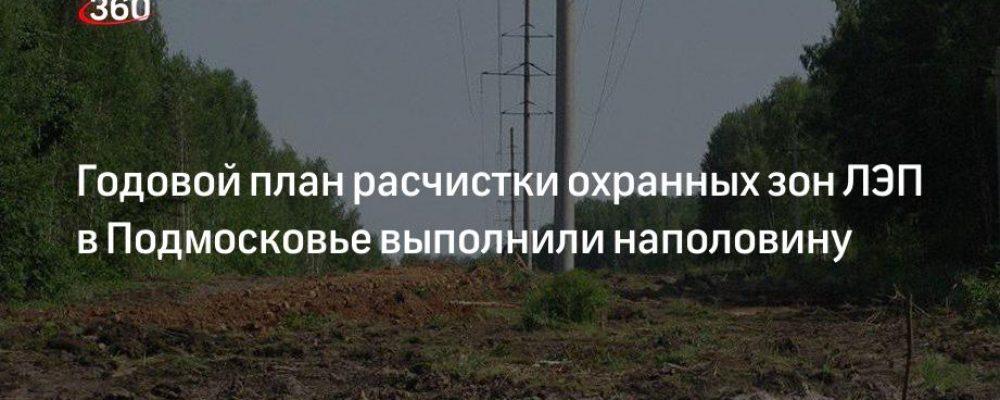 Годовой план расчистки охранных зон ЛЭП в Подмосковье выполнили наполовину