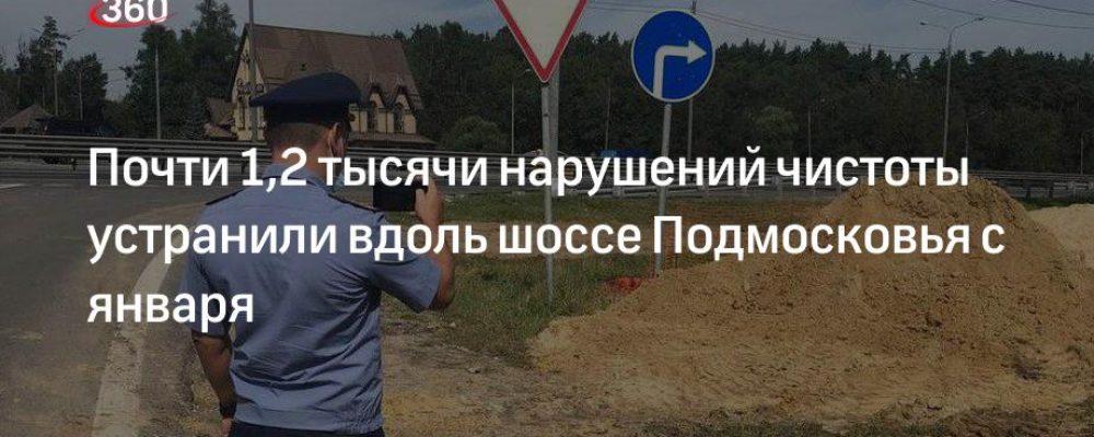 Почти 1,2 тысячи нарушений чистоты устранили вдоль шоссе Подмосковья с января