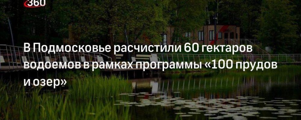 В Подмосковье расчистили 60 гектаров водоемов в рамках программы «100 прудов и озер»