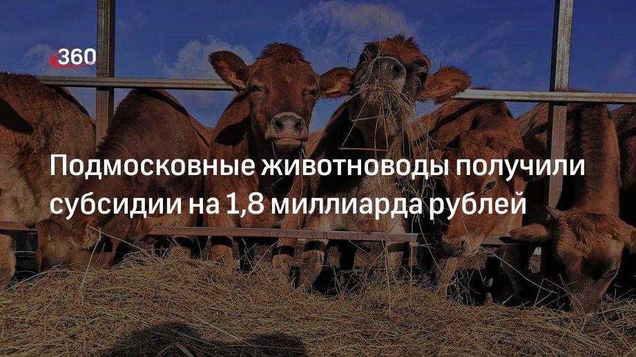 Подмосковные животноводы получили субсидии на 1,8 миллиарда рублей